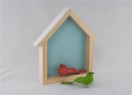 Birdhouse Shelf - Bluebird Blue