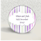 Personalised magnets Custom Wedding Favour - 'mauve & silver'