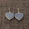 Blue & White Spot Heart ~ Earrings