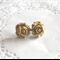 Coffee flower stud earrings