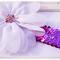Girls Baby Toddler Floral Headband White Purple Chiffon Sequin - Zara BB