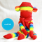 Sock Monkey Kit - Rainbow Stripes, Craft Kit, Soft Toy Pattern