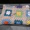 Crochet Granny Square Baby Cot Blanket - Multi colour