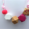 Wooden Geometric Adjustable Necklace
