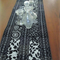 Black and White Table Runner with Patchwork, Quilting and stitch detail.