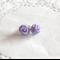 Mini purple stud earrings
