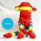 Sock Monkey Kit - Rainbow Stripes, Craft Kit, Soft Toy Pattern