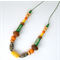 Wood and Clay Necklace