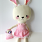 Pink Easter Bunny Rabbit Softie / Soft toy / Plush toy / stuffed toy
