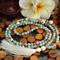 Amazonite/Magnesite/ Cherry Quartz Long Boho Tassel Necklace
