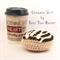 Cinnamon Roll with Cream Cheese Frosting - Crochet Amigurumi