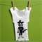 Size 000 baby boys screen printed singlet - pirate