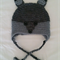 Grey Fox Crochet Beanie Hat