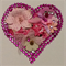 Beautiful Original Collage, Heart shape,