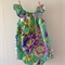 Gorgeous Summer Emerald Floral Baby Girl Toddler Romper Playsuit