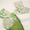 Hanging Hand Towel for Kitchen and bathroom – Towel Topper green & white flowers