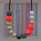 Silicone Teething Necklace- Life Of The Party Neon Orange