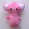 Pink Elephant Rattle Toy