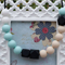Silicone Teething Necklace- Midnight Summer Achoo