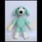 Handmade crochet dog / puppy amigurumi soft toy custom order