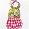 Gingham Bloomer Red Nappy Cover