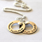 Mothers Day Childrens Names Necklace Personalized Jewelry Sterling Silver Washer