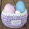 Hand Crochet Easter Egg Basket