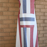 """Indian summer"", is a striped, 100% cotton unisex adult's apron."