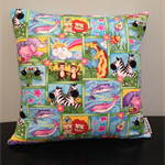 Two by Two Noah's Ark Quilted Pillow Cover