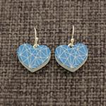 Geo Blue Hearts ~ Earrings