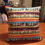 Alien Party Quilted Pillow Cover