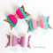 Sparkle Felt Bows - Set of 3 - Easter Bows / Clips