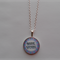 BOOK WORM DESIGN SETTING GLASS DOME PENDANT