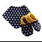Monochrome and Yellow Swiss Cross Shoes & Bandanna Gift Set