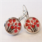 Gorgeous set of Red Flower Earings