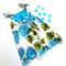 Size 4 | Annie Picnic Dress | Party Dress in Blue Hydrangea