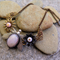 NATURAL BEAUTY, OPAL GEMSTONE , METAL & LAMP WORK NECKLACE