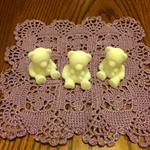 purple hand made crocheted facewasher and goatsmilk soap