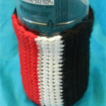 Bottle Cosy - Red, White and Black