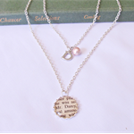 Pride and Prejudice Multilayer Necklace Pendant Beaded Initial Personalised