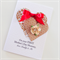 First Mother's Day Mummy kraft hearts red satin ribbon with love daddy & me card
