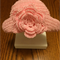 pink cotton flower hat for newborn girl