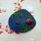 Hand painted rock- ladybug design