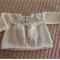 Size 0-6 months hand knitted cardigan/jacket in Lemons: Unisex, washable