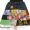 Women's Mini Skirt Upcycled Vintage Denim and Patchwork Size S