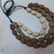 Wood Beaded Necklace - earth tones