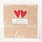 engagement card handmade kraft love script