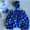 Boys outfit size 00 singlet and harem/bloomers and booties.