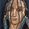 "Framed American indian  oil painting 16"" x 20"""