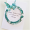 Happy Mother's Day brand new Mummy teal gold flourish with butterfly & rose card
